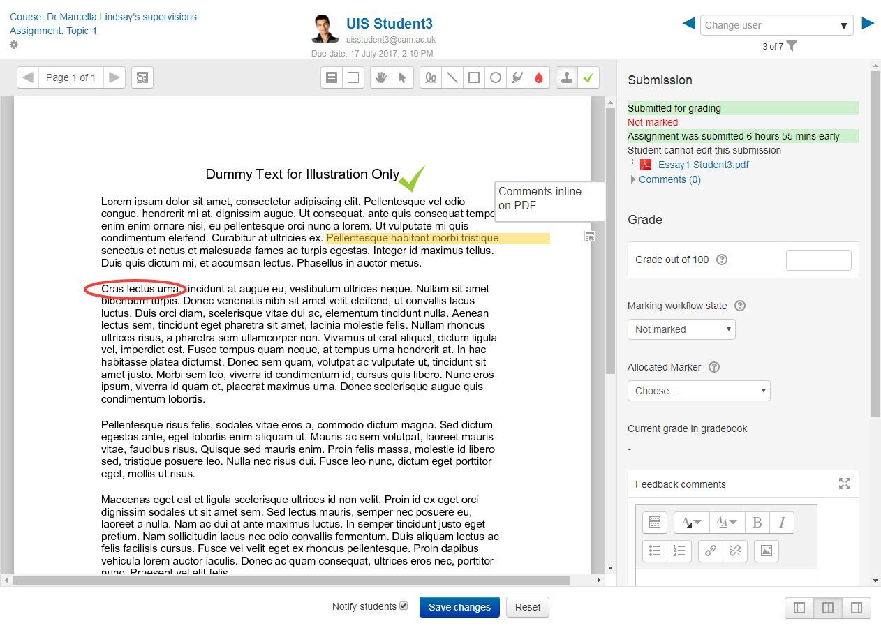 Annotate a PDF